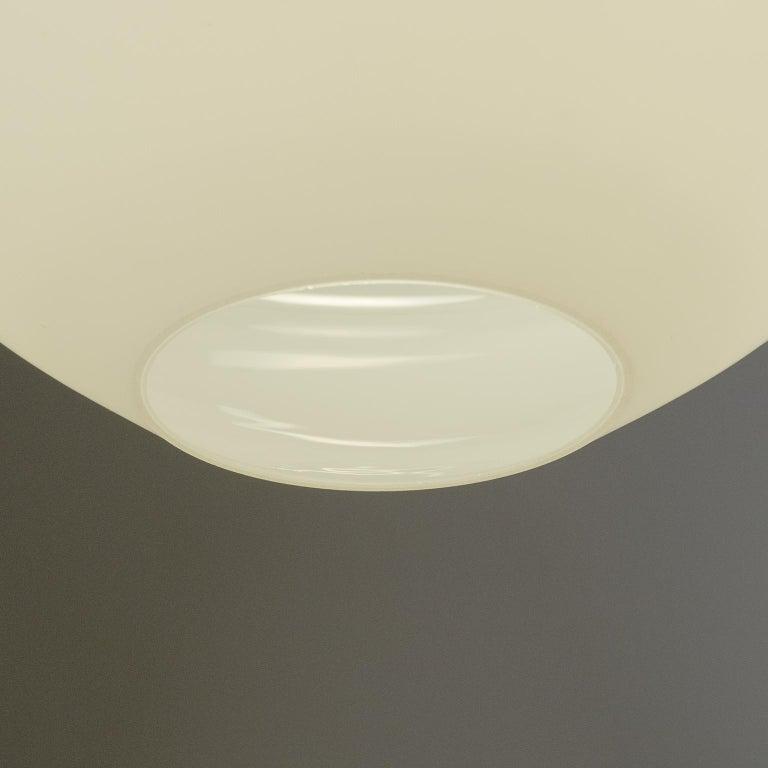 Lacquered Italian Satin Glass Pendant, 1950s For Sale