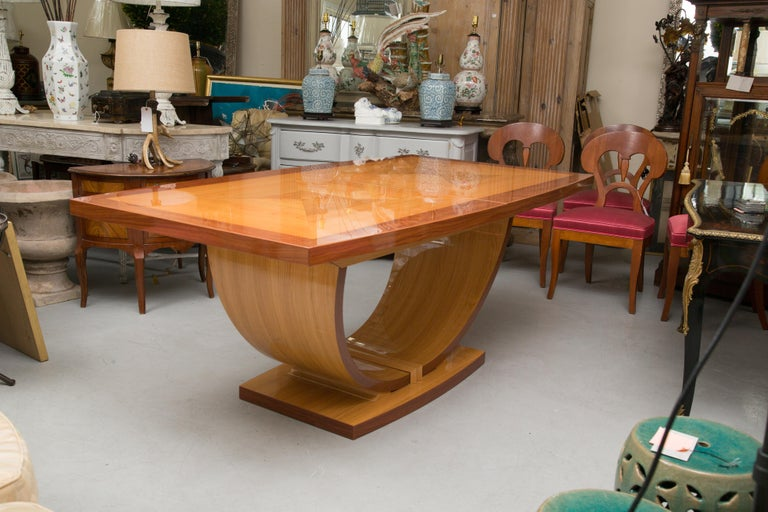 Italian Satinwood Dining Table in the Manner of Karl Springer For Sale 3