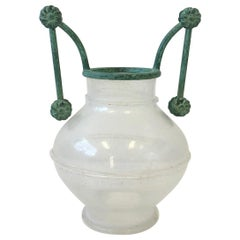 Italian Scavo Murano Glass and Bronze Vase by Silvia Buscaroli for Seguso