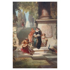 Italian School, 19th Century Afternoon Song Oil on Canvas