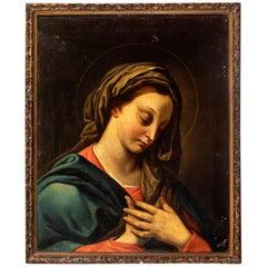 "Italian school of the 18th century. Follower of CARLO MARATTA "" Virgin """