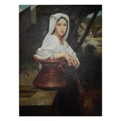 "Italian School Painting ""Neapolitan Girl"", 20th Century"
