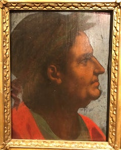 16th Century Portrait of The Emperor Galba - Italian Old Master,  Oil on panel
