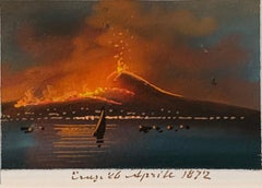 19th century Italian views of the Bay of  Naples, Volcano, Versuvius , Capri.
