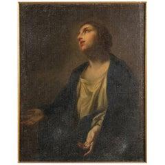 """Italian School """" Saint in Extasis """" 17th Century"""