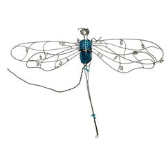 Italian Sconce Dragonfly Glass and Worked Wire, 1960