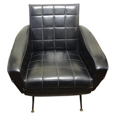 Italian Sculptural Lounge Chair in the Manner of Marco Zanuso