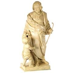 Italian Sculpture of Christ as the Good Shepherd