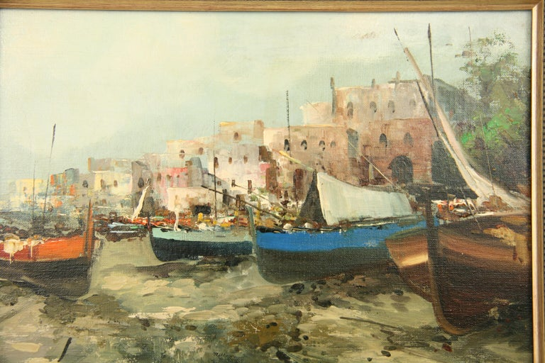 Italian Seascape Painting In Good Condition For Sale In Douglas Manor, NY