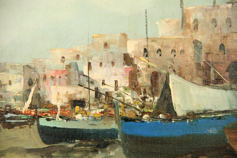 Mid-20th Century Italian Seascape Painting For Sale