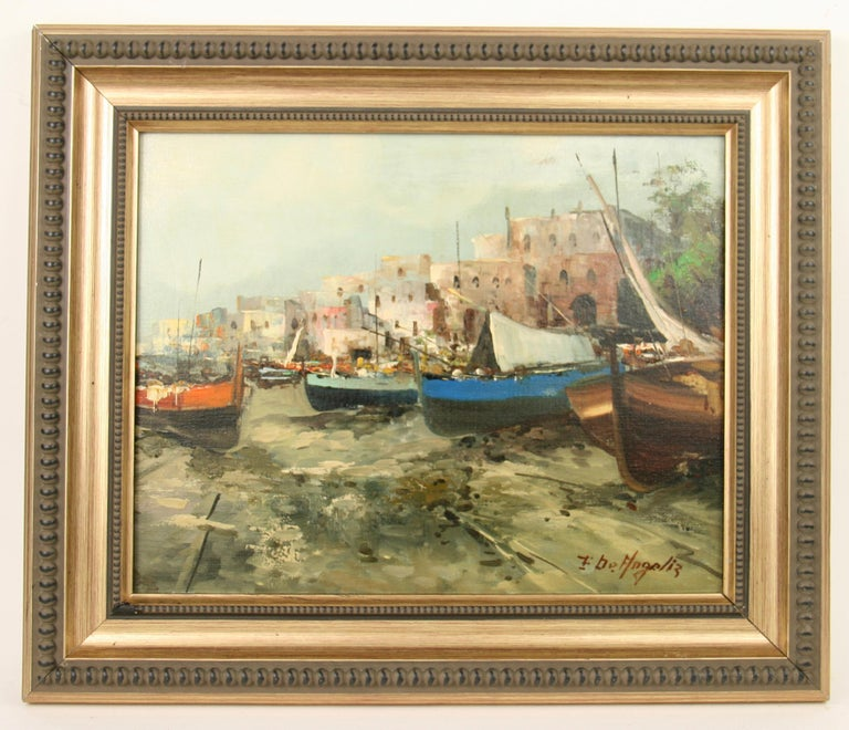 Italian Seascape Painting For Sale 1