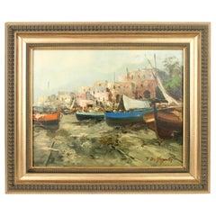 Italian Seascape Painting