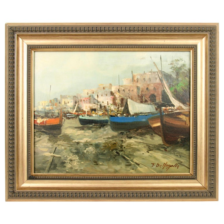Italian Seascape Painting For Sale