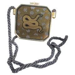 Italian Serpent Minaudière Evening Bag Designed by Franco Bastianelli c 1970s