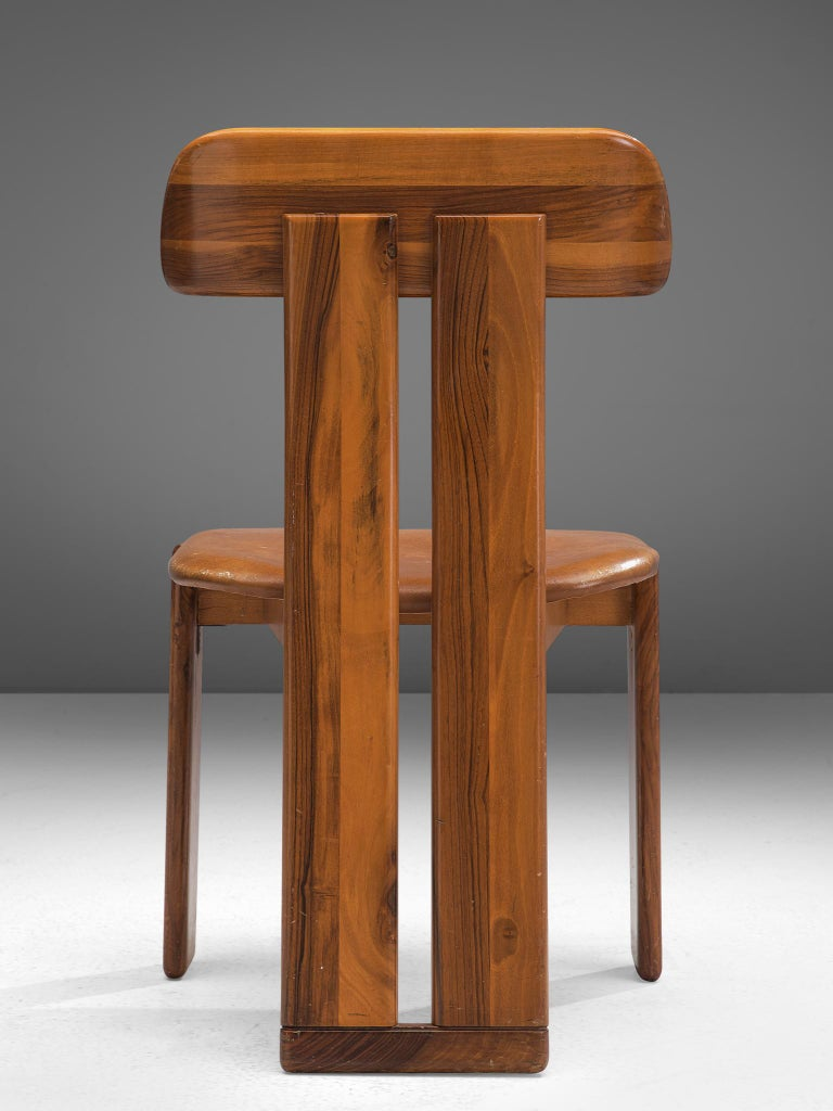 Late 20th Century Italian Set of Eight Dining Chairs by Sapporo, 1970s For Sale