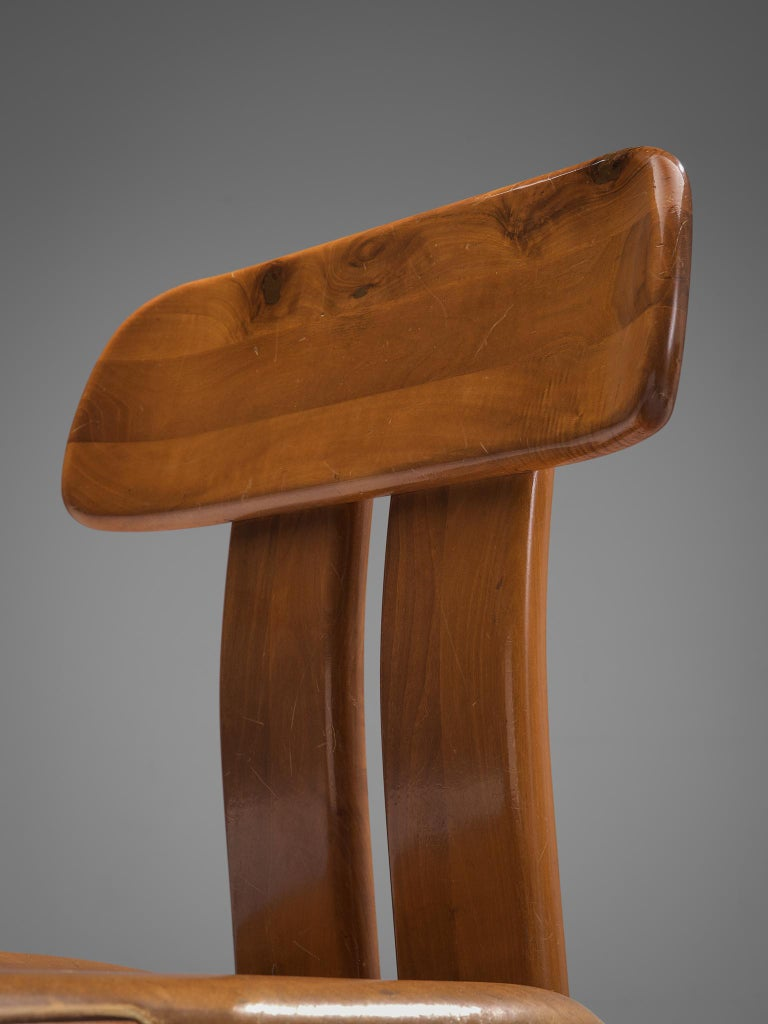 Italian Set of Eight Dining Chairs by Sapporo, 1970s For Sale 1