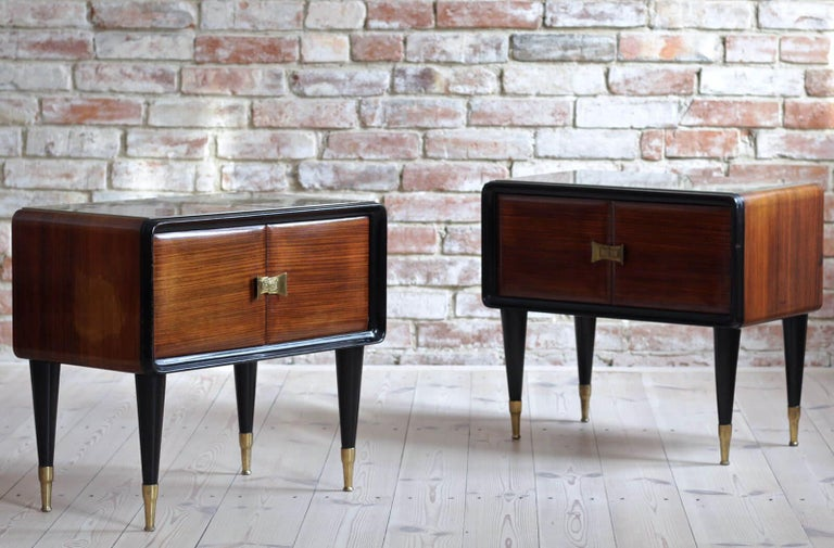 Italian Set of Furniture, Sideboard and Nightstands, Vittorio Dassi Style, 1950s 13
