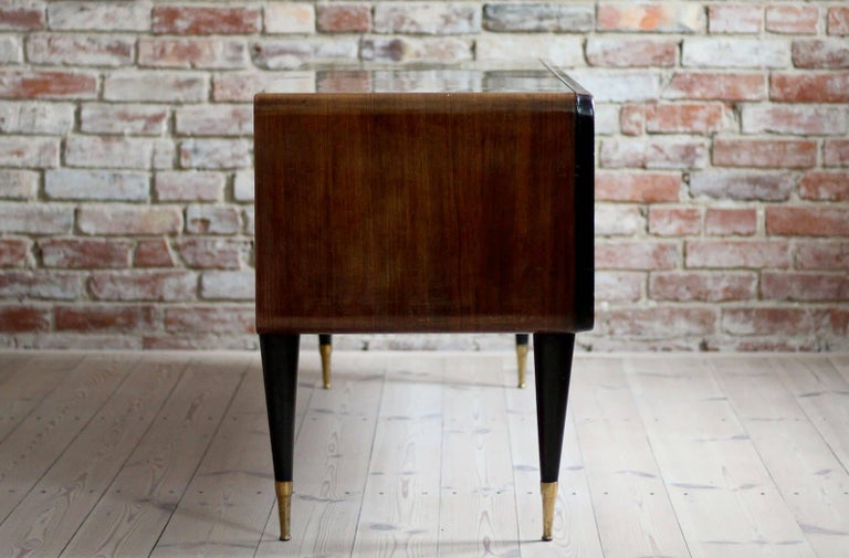 Mid-20th Century Italian Set of Furniture, Sideboard and Nightstands, Vittorio Dassi Style, 1950s