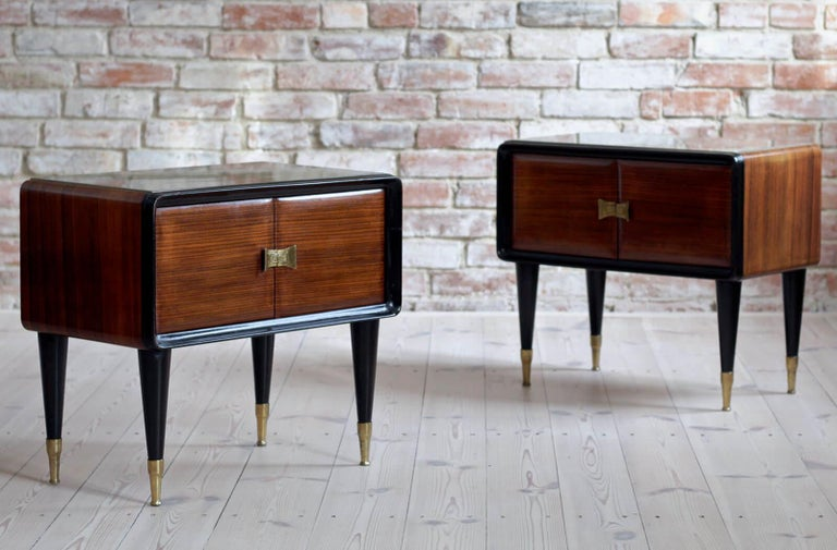 Italian Set of Furniture, Sideboard and Nightstands, Vittorio Dassi Style, 1950s 1