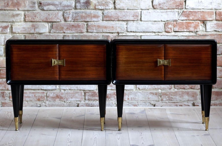 Italian Set of Furniture, Sideboard and Nightstands, Vittorio Dassi Style, 1950s 2