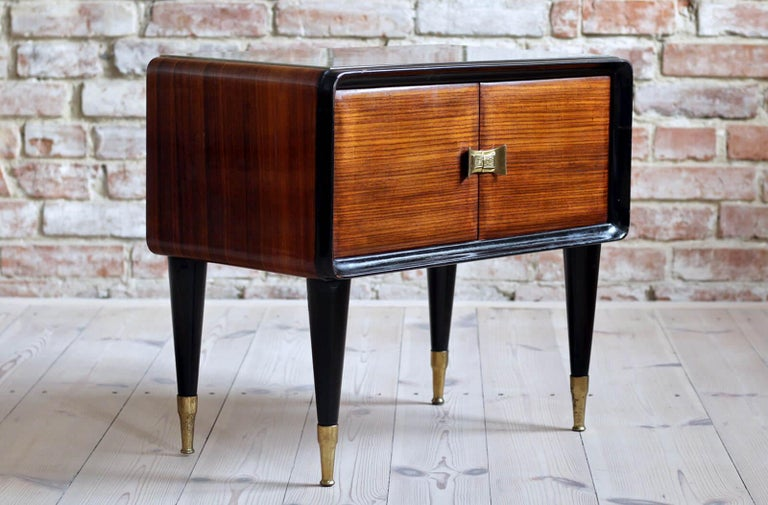Italian Set of Furniture, Sideboard and Nightstands, Vittorio Dassi Style, 1950s 3