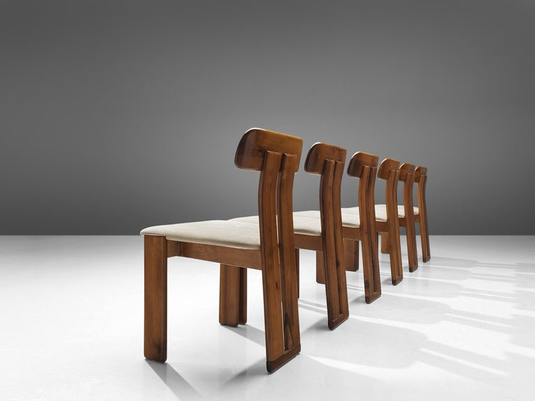 Italian Set of Six Dining Chairs by Sapporo, 1970s In Good Condition For Sale In Waalwijk, NL