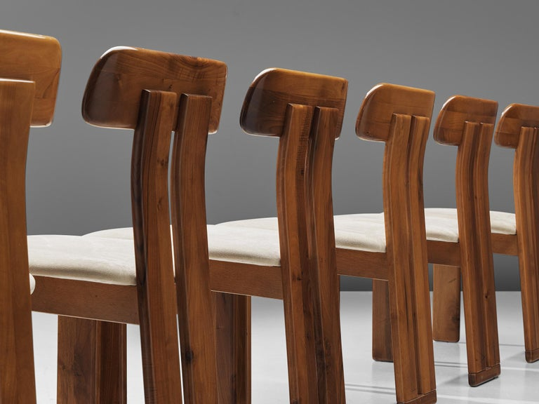 Late 20th Century Italian Set of Six Dining Chairs by Sapporo, 1970s For Sale