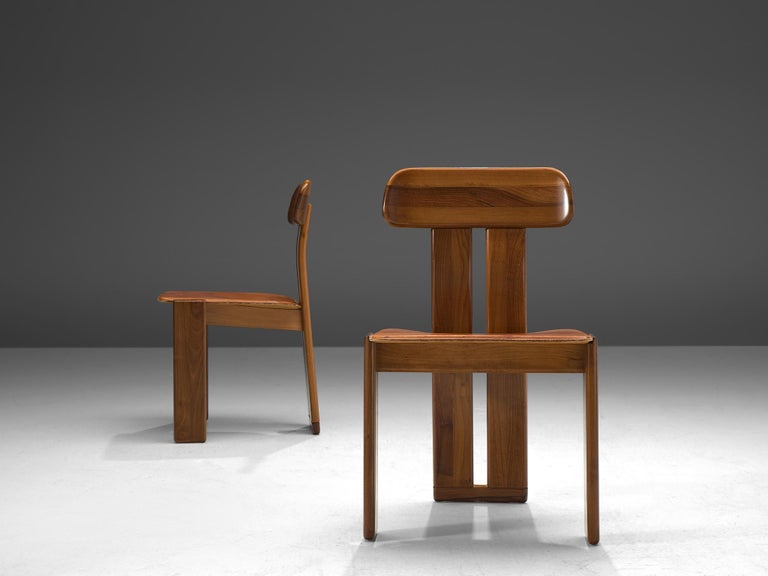 Late 20th Century Italian Set of Six Dining Chairs by Sapporo, 1970s