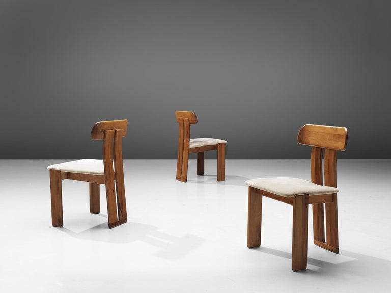 Fabric Italian Set of Six Dining Chairs by Sapporo, 1970s For Sale