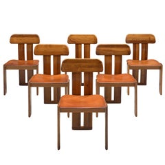 Italian Set of Six Dining Chairs by Sapporo, 1970s