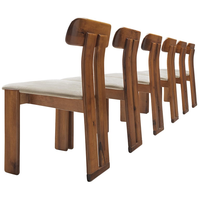 Italian Set of Six Dining Chairs by Sapporo, 1970s For Sale