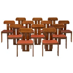 Italian Set of Twelve Dining Chairs by Sapporo, 1970s