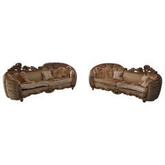 Italian Set of Two Luxury Three-Seated Asimmetrical Sofa by Riva Mobili D'Arte
