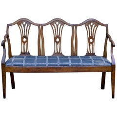 Italian Settee / Hall Bench of Walnut