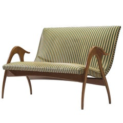 Italian Settee with Sculptural Frame by Malatesta & Mason