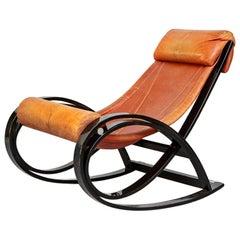 Italian Sgarsul Rocking Chair, Gae Aulenti for Poltronova, 1962