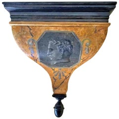 Italian Shelf Depicting the Roman Emperor from the Early 20th Century