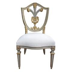 Italian Shield Back Plume Chair