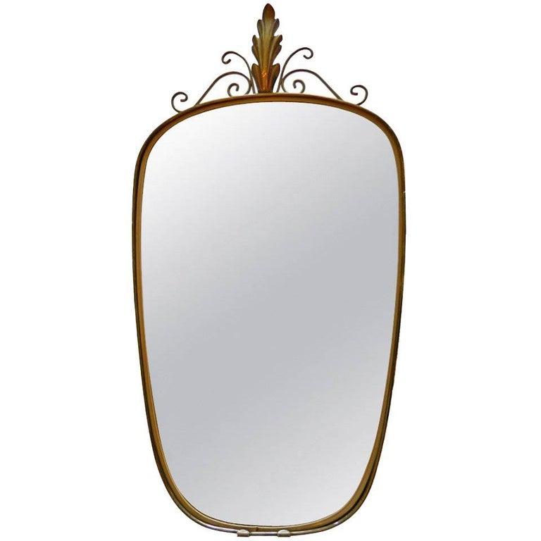 Italian Shield Mirror For Sale