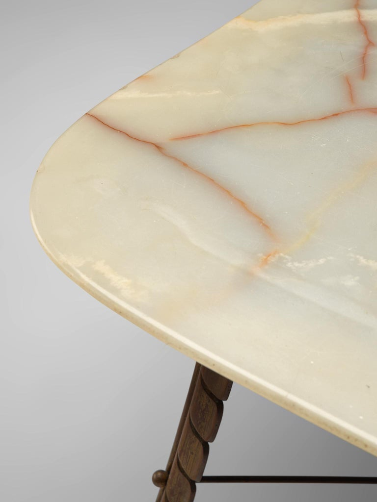 Italian Side Table in Marble and Bronze For Sale 2