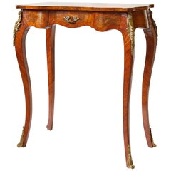 Italian Side Table with Star Marquetry Top