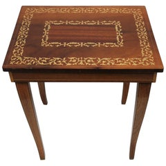 Italian Side or End Table with Storage and Music Box in the Rococo Style