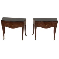 Italian Side Tables/Nightstands, 1940s