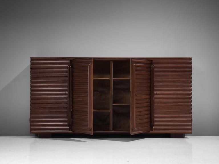 Italian Sideboard in Darkened Oak For Sale 3