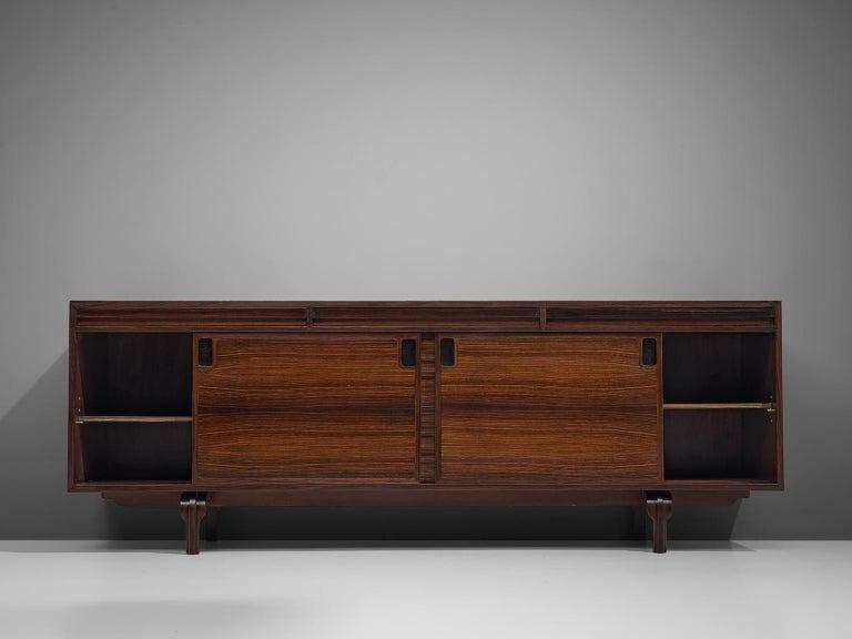 Italian Sideboard in Rosewood by Luigi Massoni For Sale 3