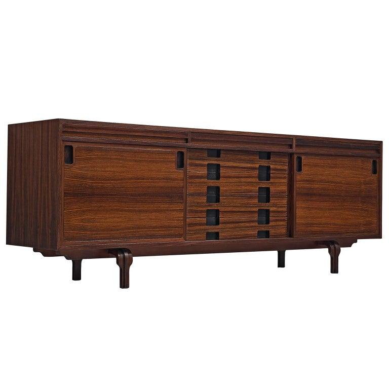 Italian Sideboard in Rosewood by Luigi Massoni For Sale