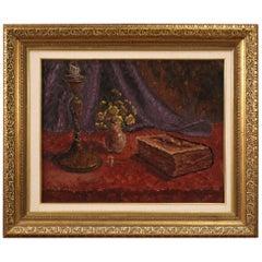 Italian Signed Painting Still Life, 20th Century