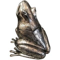 Italian Silver Frog-Form Box, by Mario Buccellati, Milan Italy, circa 1950