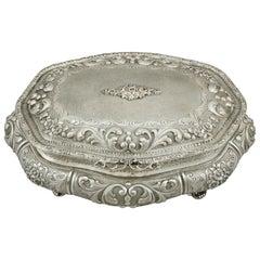 Italian Silver Jewelry Casket