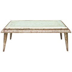 Italian Silver Leaf Low Table